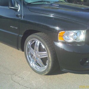 "Dodge SRT-10 with 24"" Dub Delusion Spinners"